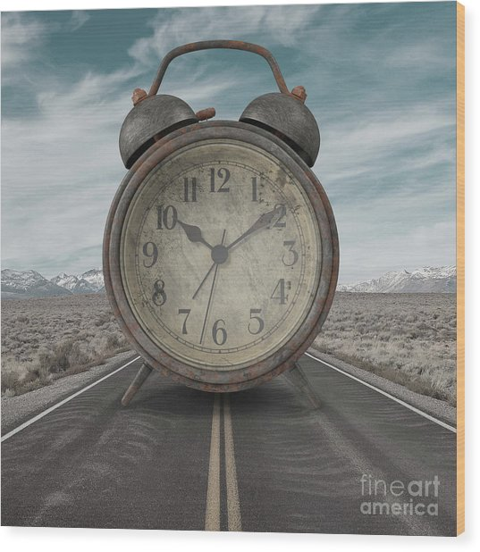 Wood Print featuring the photograph A Matter Of Time Surreal by Edward Fielding