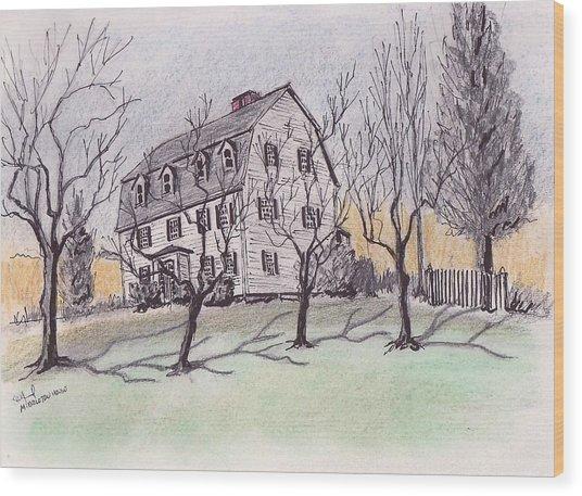 A Middleton Ma Gambrel Wood Print