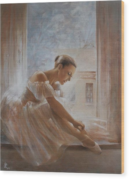A New Day Ballerina Dance Wood Print