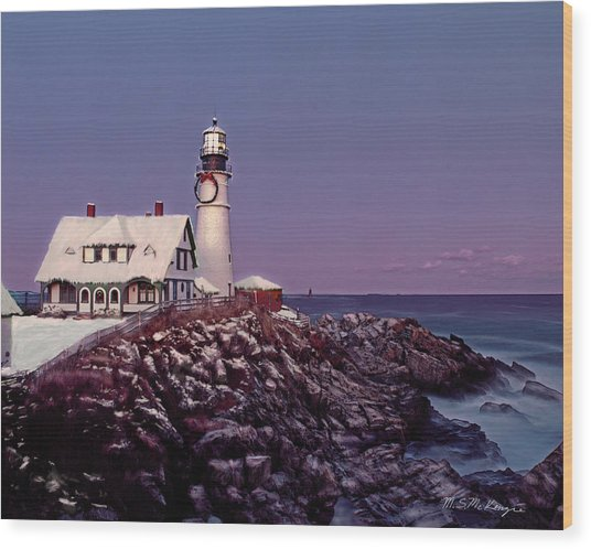 A New England Christmas Different Format Wood Print by M S McKenzie