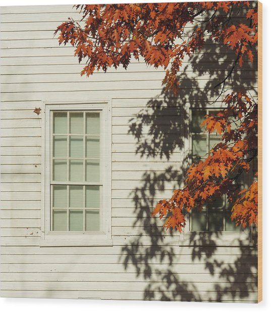 A New England Composition Wood Print