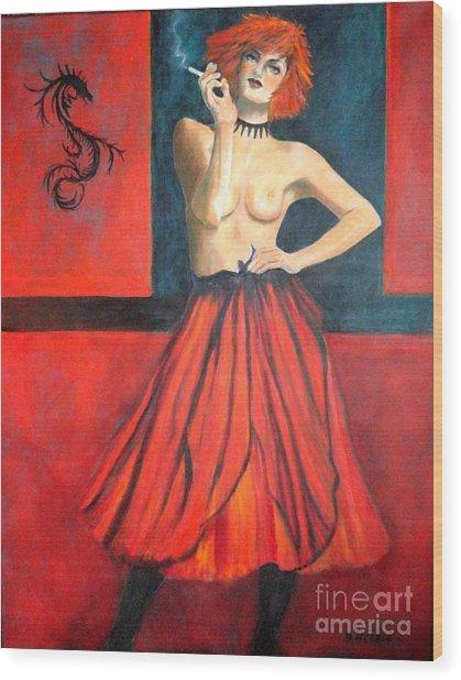 A New Version Of Lisbeth Salander Wood Print