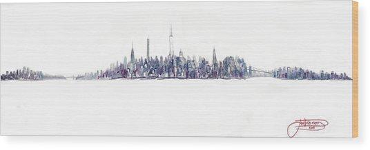 A New Year In Manhattan Wood Print