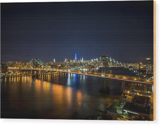 A New York City Night Wood Print