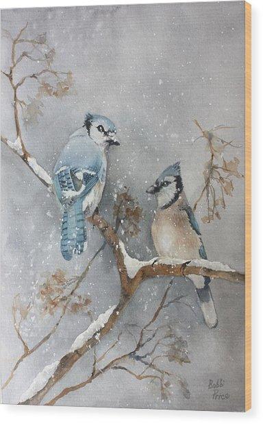 A Pair Of Jays Wood Print by Bobbi Price