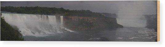 A Panoramic View Of Niagara Falls Wood Print