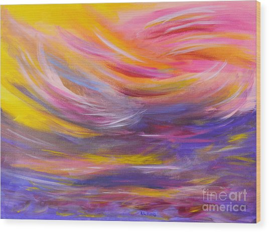 A Peaceful Heart - Abstract Painting Wood Print