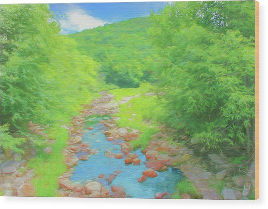 A Peaceful Summer Day In Southern Vermont. Wood Print