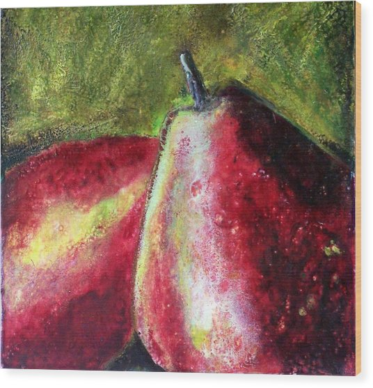 A Pear Wood Print by Karla Phlypo-Price