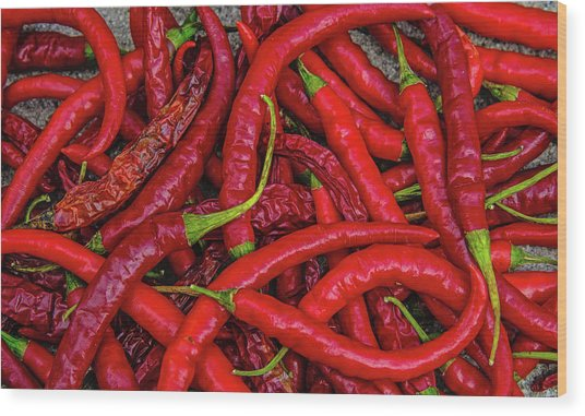 A Peck Of Unpickled Peppers Wood Print