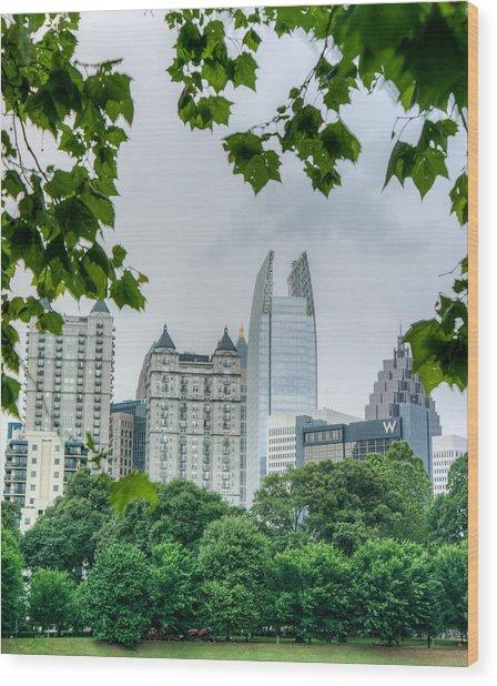 A Peek At The Atlanta Skyline Wood Print