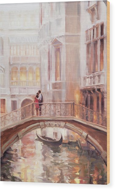 A Perfect Afternoon In Venice Wood Print