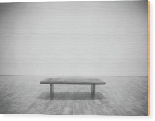 A Place To Sit 3 Wood Print