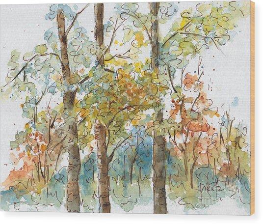 A Poplar Treeo Wood Print