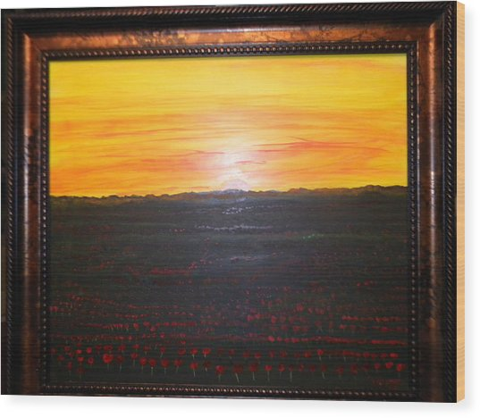 A Poppy Sunset Wood Print by Chris Heitzman