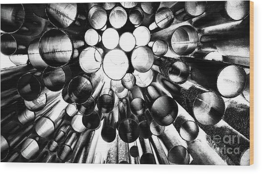 A Question Of Perspective 2 Sibelius Monument Wood Print