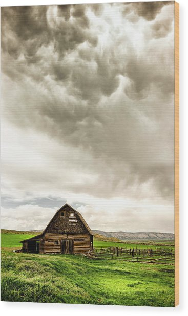 A Quiet Storm Wood Print by Humboldt Street