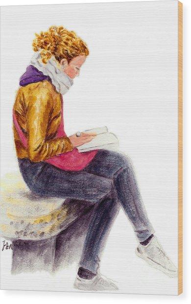 A Reading Girl In Milan Wood Print
