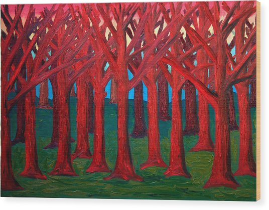 A Red Wood - Sold Wood Print by Paul Anderson