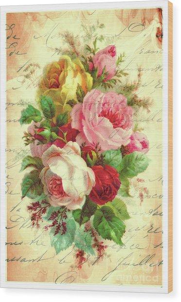 A Rose Speaks Of Love Wood Print