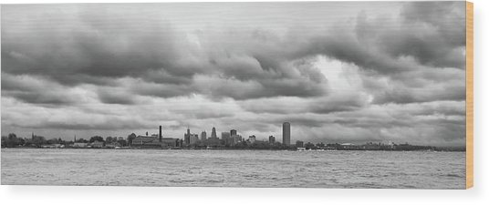 A Rotten Day In Buffalo  9230 Wood Print