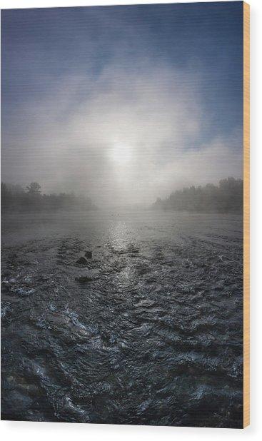 A Rushing River Wood Print