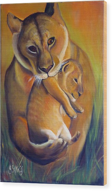 A Safer Place Wood Print by Janet Silkoff