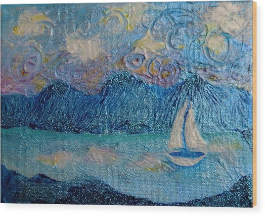 A Sailboat For The Mind #2 Wood Print