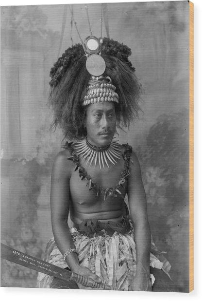 A Samoan High Chief Wood Print