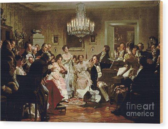A Schubert Evening In A Vienna Salon Wood Print