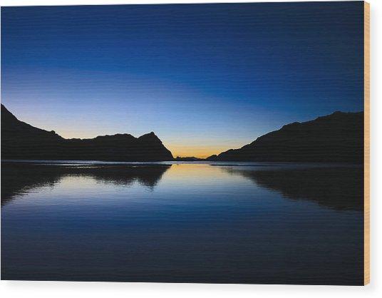 A Sierra Morning High Wood Print