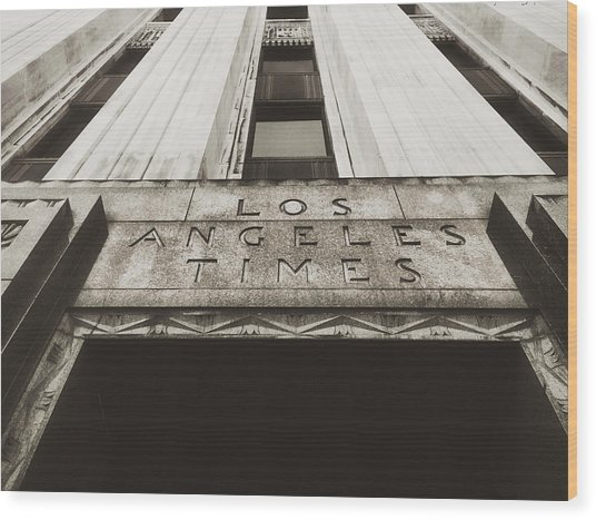 A Sign Of The Times - Vintage Wood Print