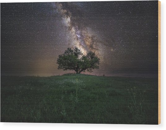 A Sky Full Of Stars Wood Print