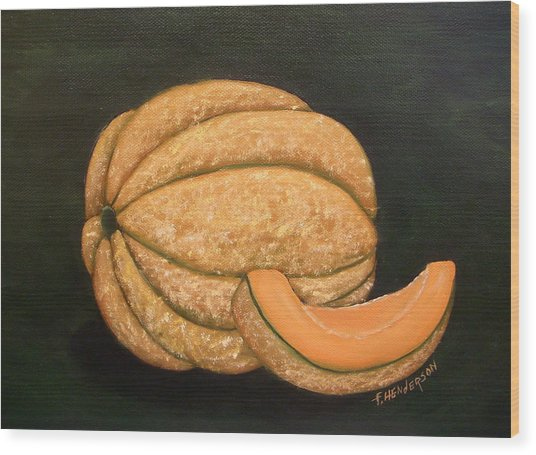 A Slice Of Melon Wood Print by Francine Henderson