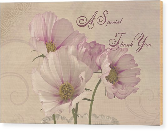 A Special Thank You - Card Wood Print