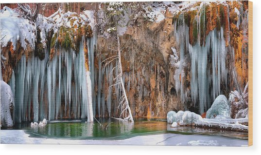 A Spring That Knows No Summer. - Hanging Lake Print Wood Print