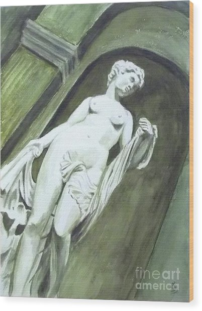 A Statue At The Toledo Art Museum - Ohio Wood Print