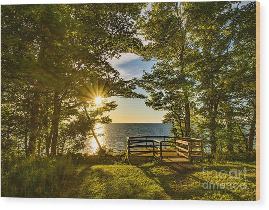 A Sterling Sunset Wood Print