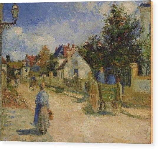 A Street In Pontoise 1879 Wood Print