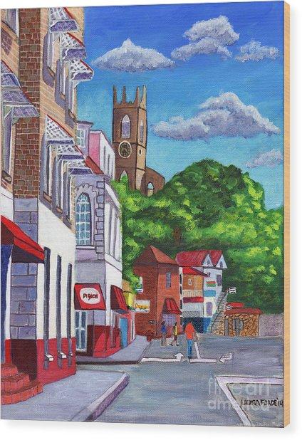 A Stroll On Melville Street Wood Print