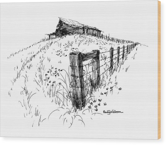 A Strong Fence And Weak Barn Wood Print