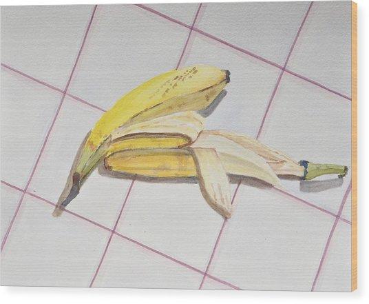 A Study On Bananas Wood Print