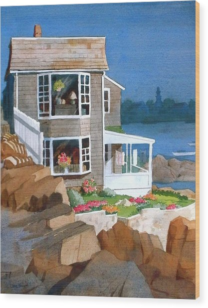 A Summer Place Wood Print by Faye Ziegler