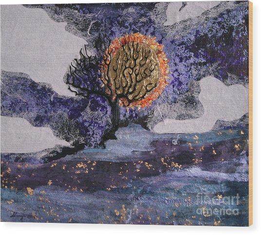 A Sun So Bright Wood Print