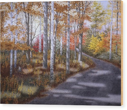 A Sunny Autumn Day Wood Print by Conrad Mieschke