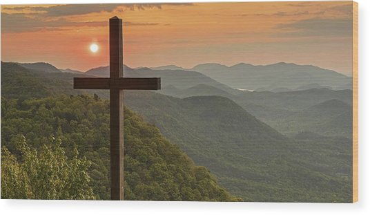 A Sunrise View From Pretty Place Greenville Sc Wood Print by Willie Harper