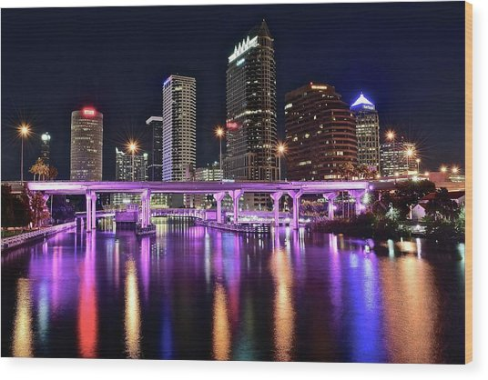 A Tampa Night Wood Print