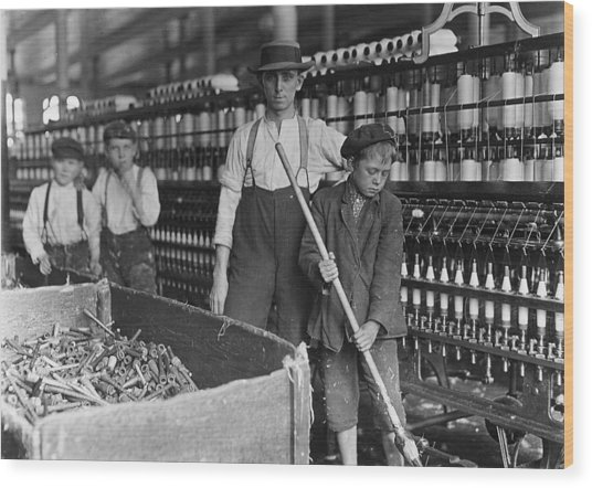 A Textile Mill Sweeper And Doffer Boys Photograph By Everett