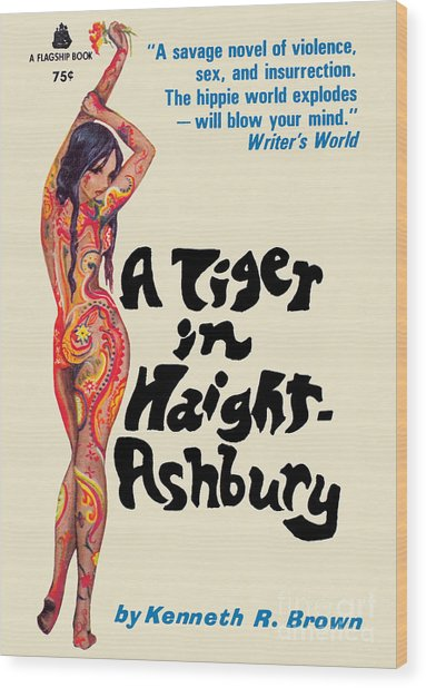 A Tiger In Haight-ashbury Wood Print