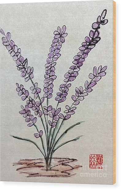 A Touch Of Lavender Wood Print